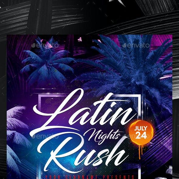 Latin Party Flyer