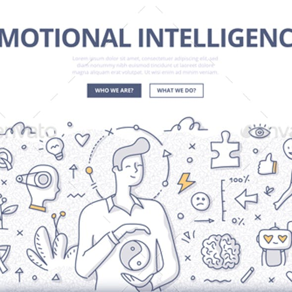 Emotional Intelligence Doodle Concept