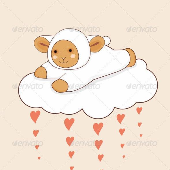 Lamb Cloud Heart