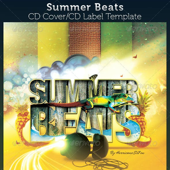 Summer Beats CD Artwork Template