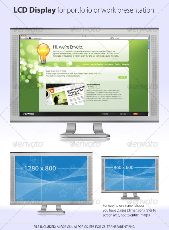 LCD Display for portfolio or work presentation - Computers Technology