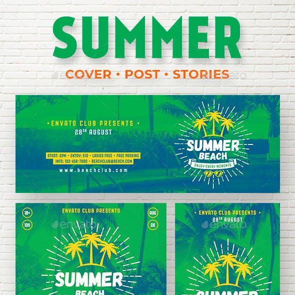 Summer Beach Social Media Template