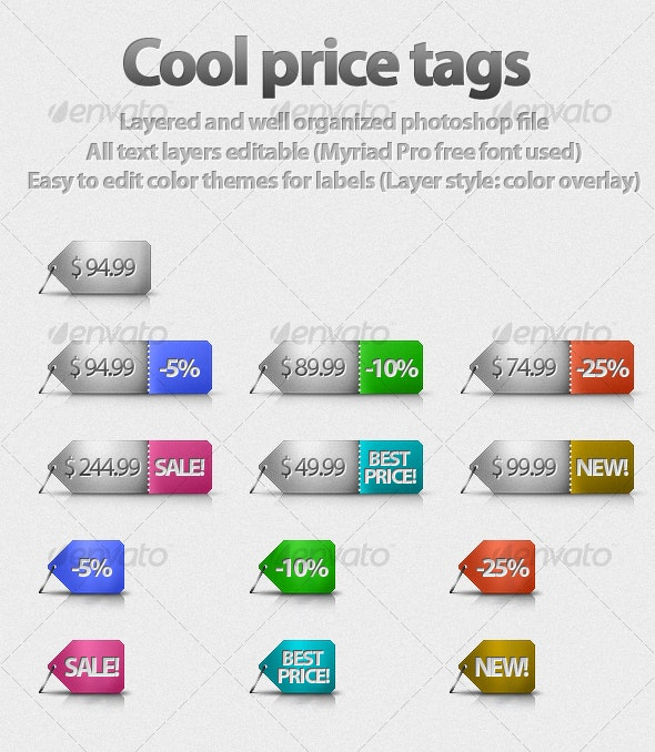 Cool Price Tags! - Miscellaneous Web Elements