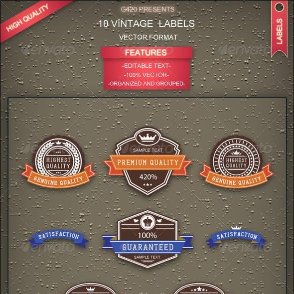 10 Vintage Labels