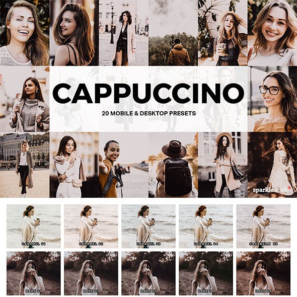 20 Cappuccino Lightroom Presets and LUTs