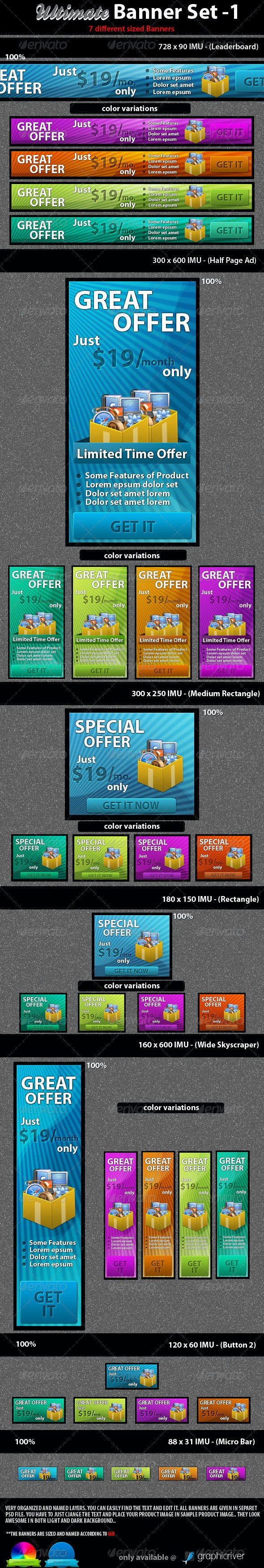 Ultimate Banner Set - 1 - Banners & Ads Web Elements