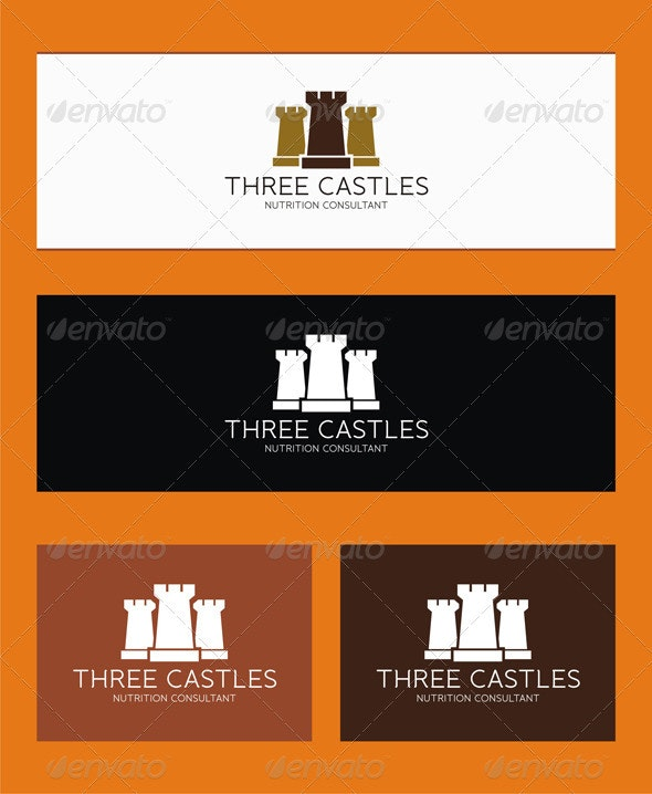 Three Castles Logo - Buildings Logo Templates
