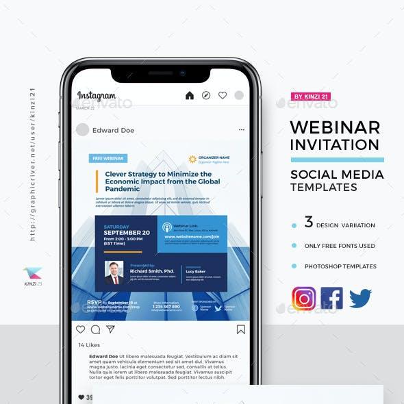 Webinar Invitation Social Media Templates