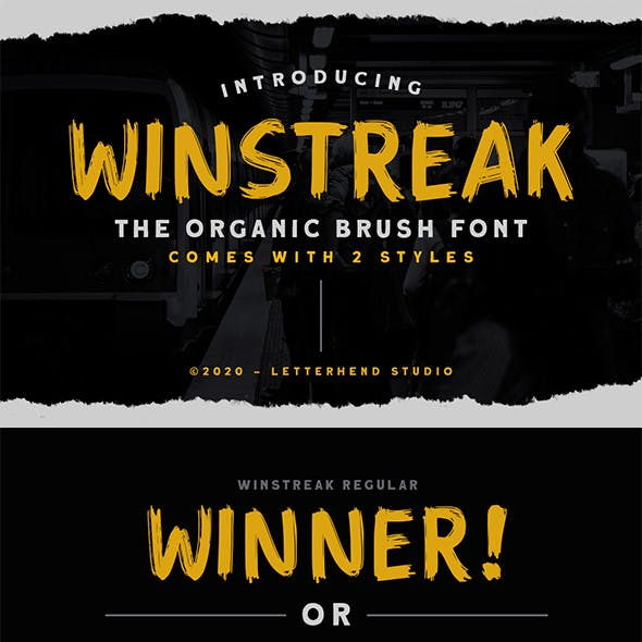 Winstreak - Brush Font