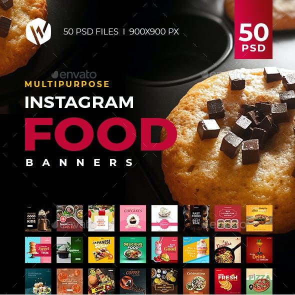 50 Instagram Food Banners