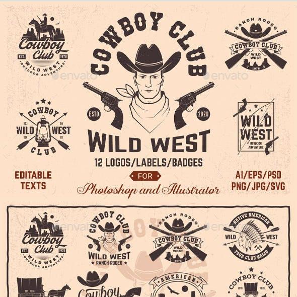 Cowboy Club Badges