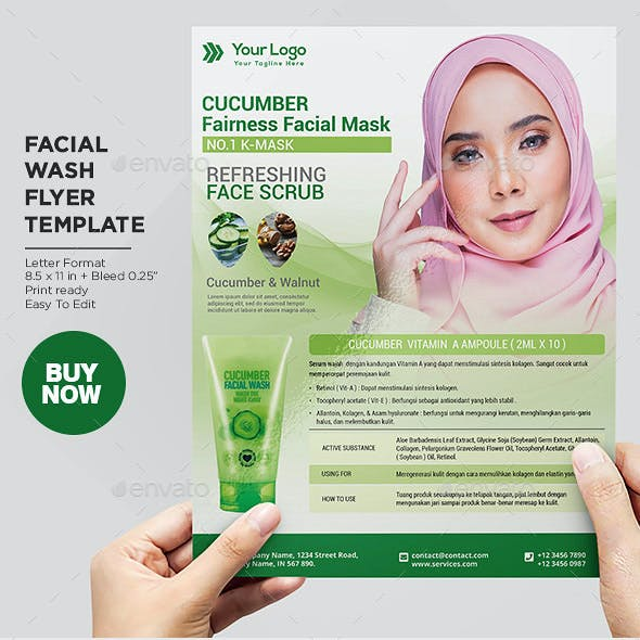 Product Flyer Facial Wash