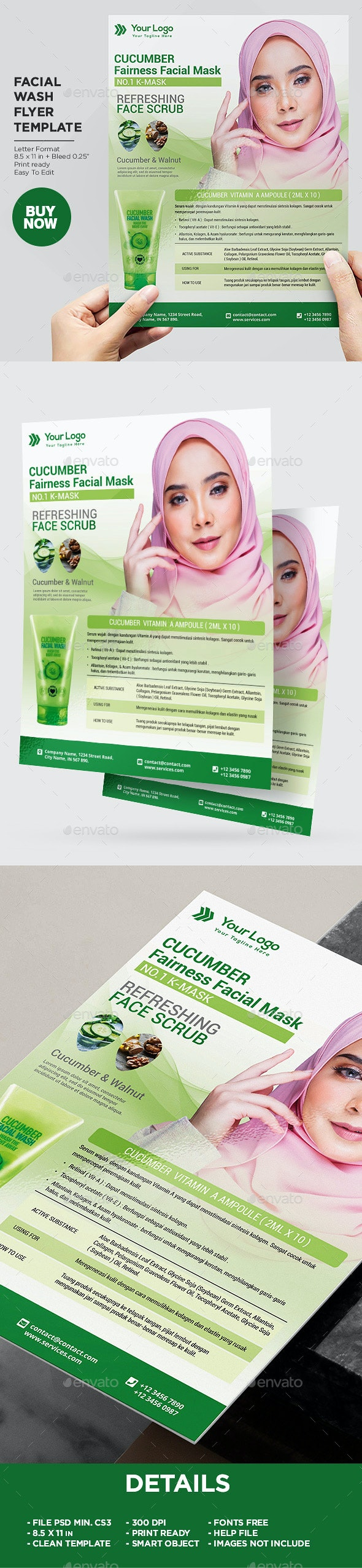 Product Flyer Facial Wash - Corporate Flyers