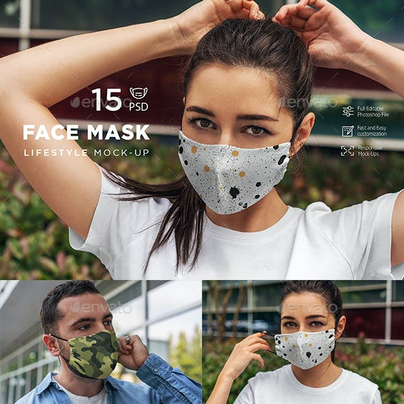 Face Mask MockUp Lifestyle