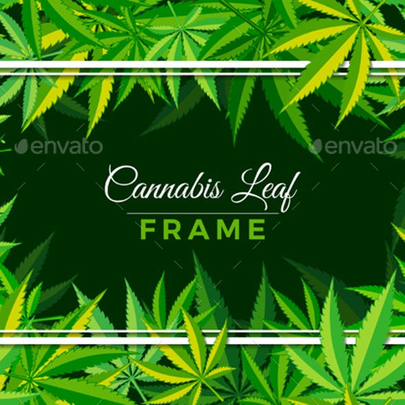 Cannabis Leaf Frame