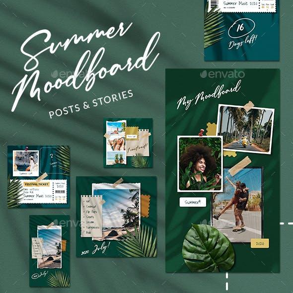 Summer Moodboard Instagram