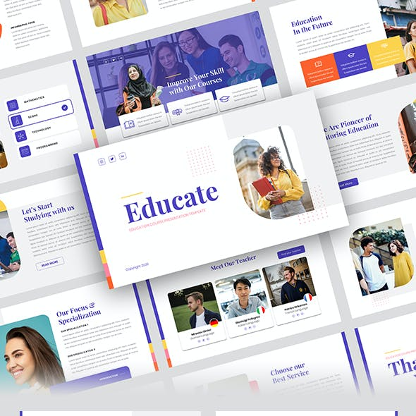 Educate – Education Course PowerPoint Template