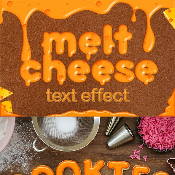 Melt Cheese Style Text Effect