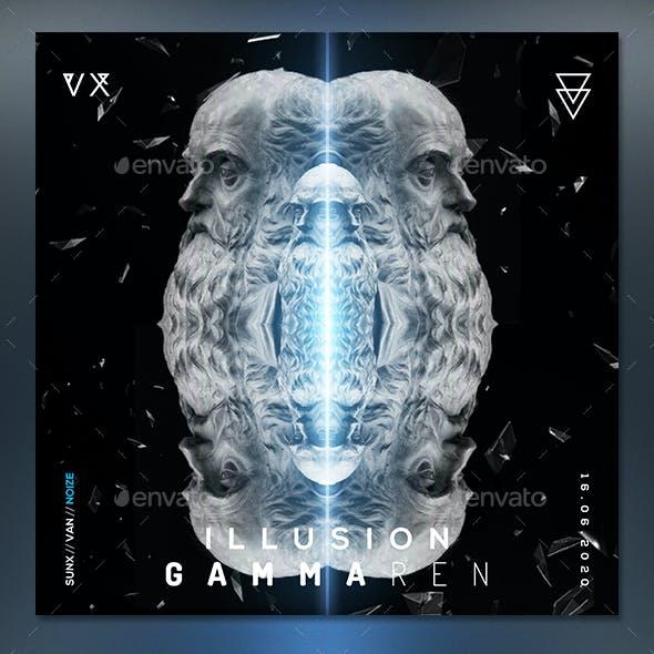 Dark Music 6 Album Cover Template