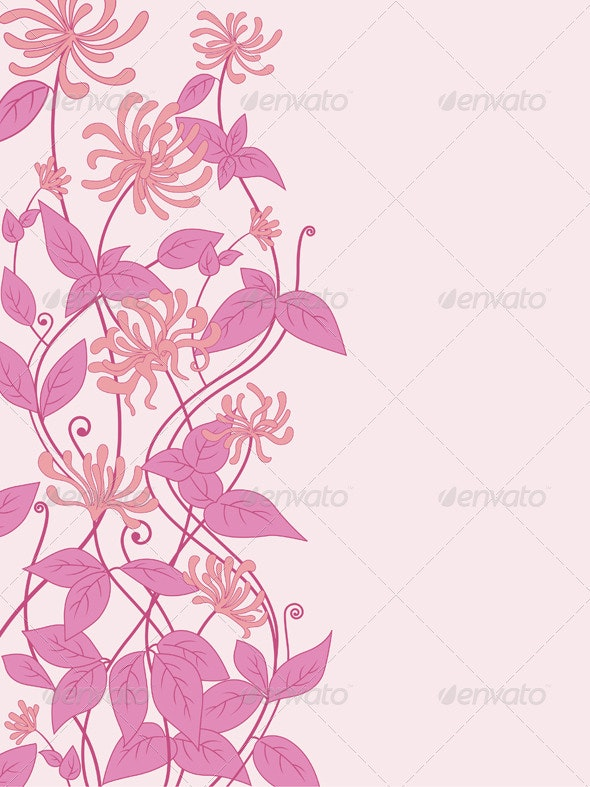 Background with Pink Flowers - Backgrounds Decorative