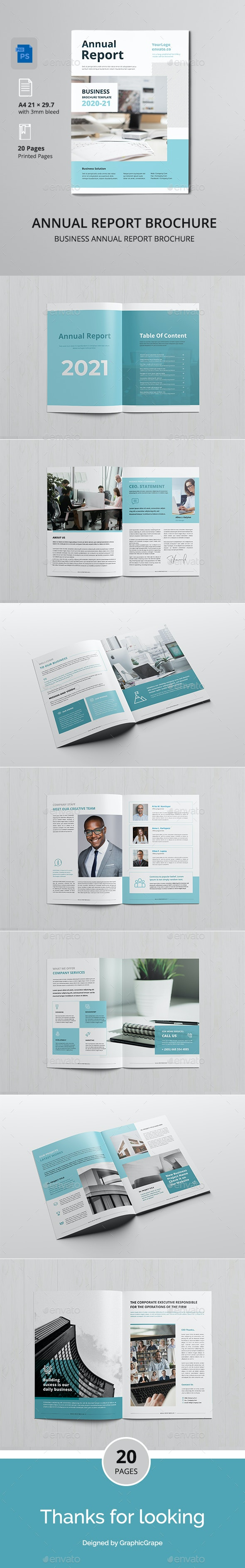 Annual Report Brochure Template - Corporate Brochures