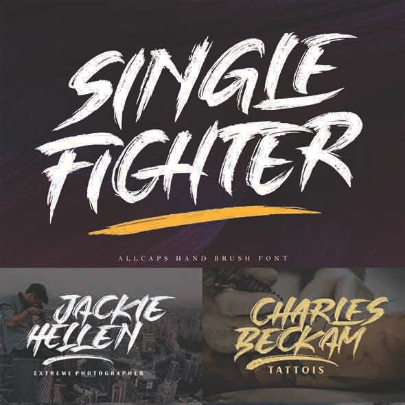 Single Fighter - Brush Fonts