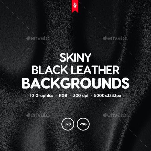 Skiny - Black Leather Texture Set
