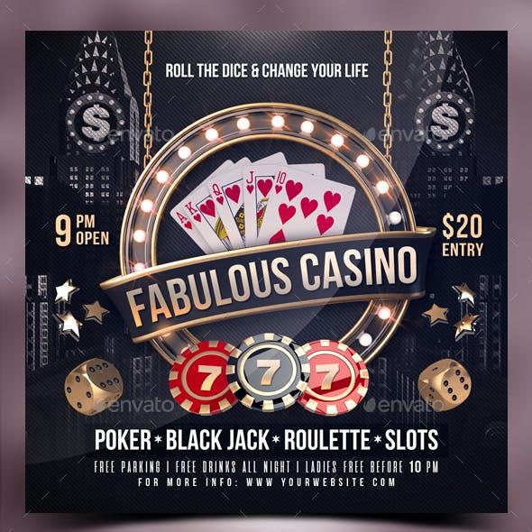 Poker Casino Flyer