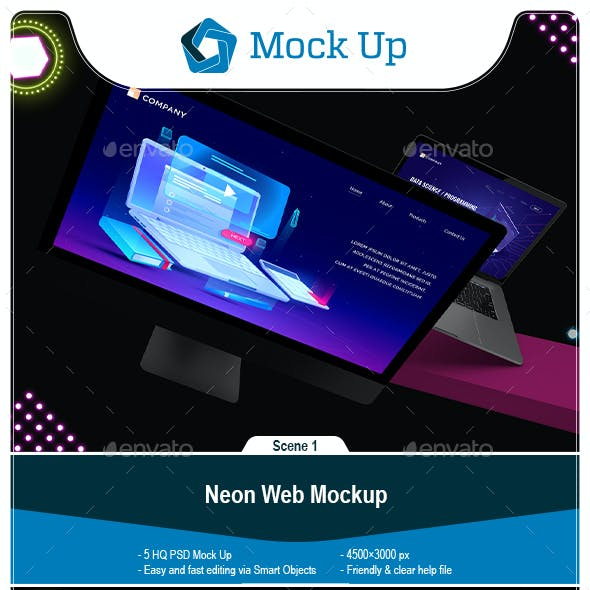 Neon Web Mockup