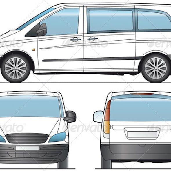 Minibus, bus, Taxi Template