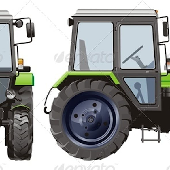 Vector Agricultural Tractor