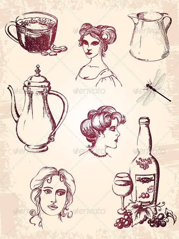 Vintage Design Elements - Miscellaneous Conceptual