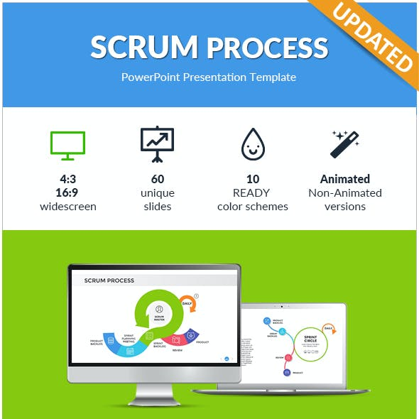 Scrum Process PowerPoint Presentation Template