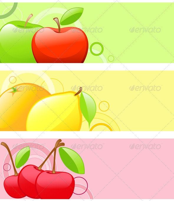 Bright Fruit Backgrounds - Food Objects
