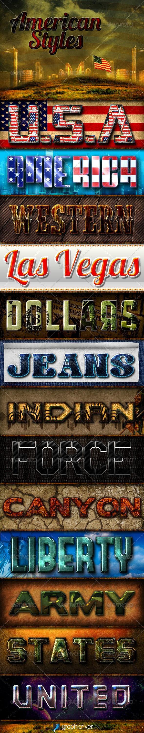 American Styles - Text Effects Styles