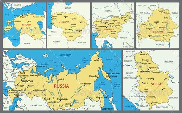 Maps of European Countries - Part 5 - Miscellaneous Vectors