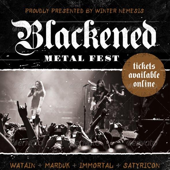 Blackened Metal Fest - Heavy Metal Flyer Template