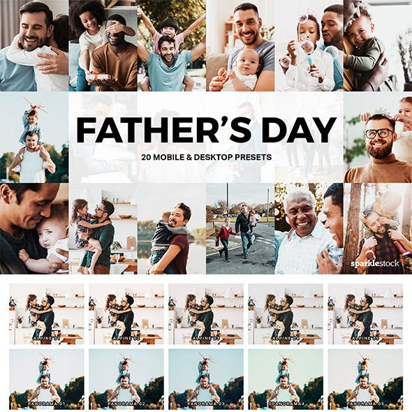 20 Father's Day Lightroom Presets and LUTs