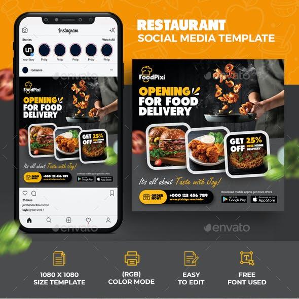 Restaurant Social Media Template