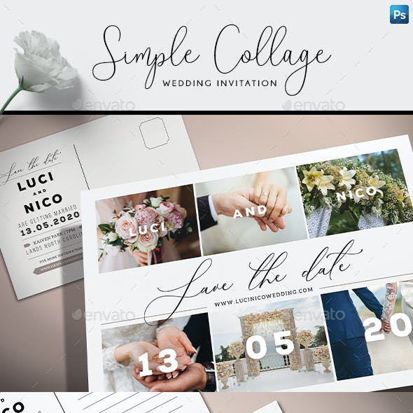 Simple Collage Invitation