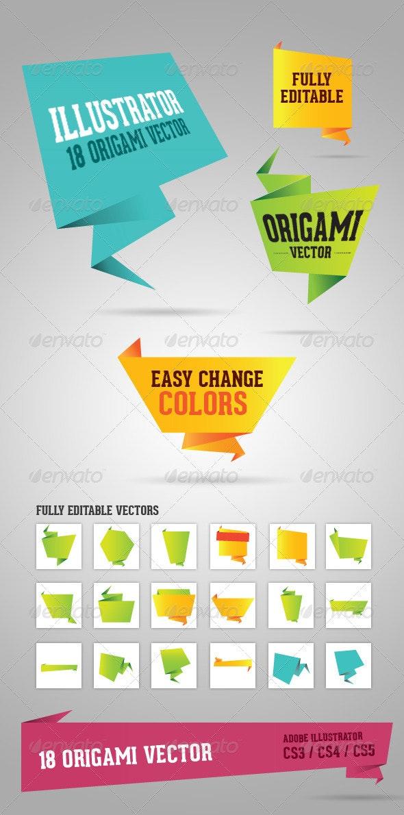Origami vectors - Decorative Vectors