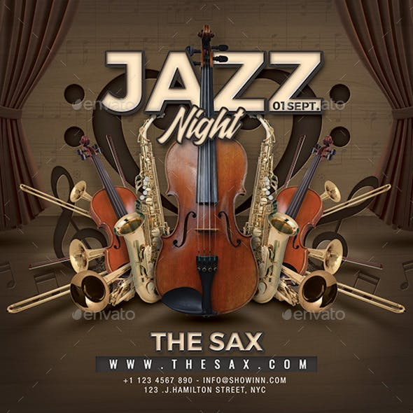 Jazz Night Concert Flyer