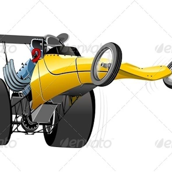 Vector Cartoon Dragster