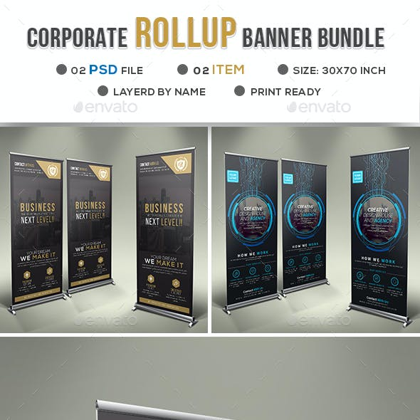Corporate Business Roll-up Banner Bundle