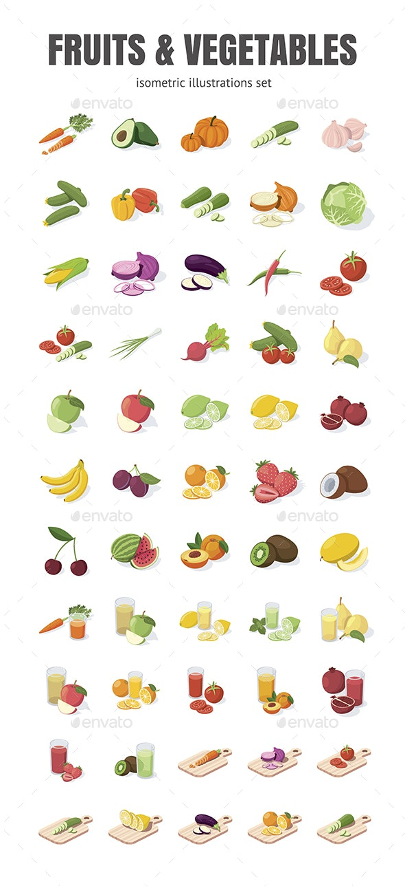 Fruits & Vegetables - Food Objects