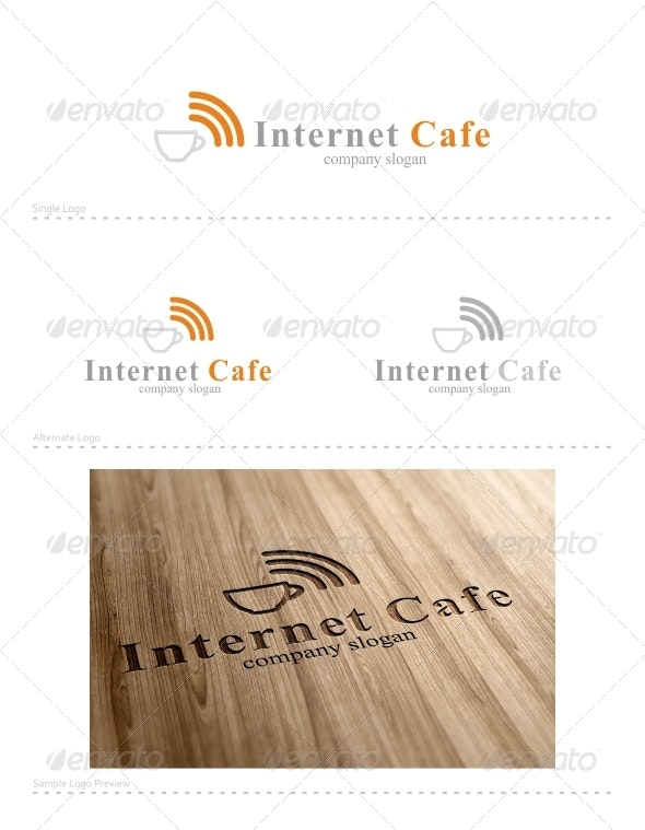 Internet Cafe - Vector Abstract