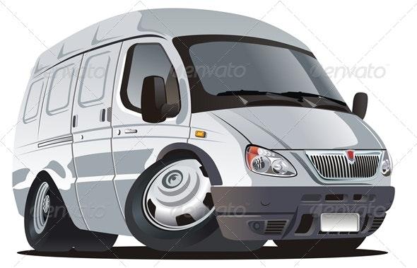 Vector Cartoon Van - Characters Vectors