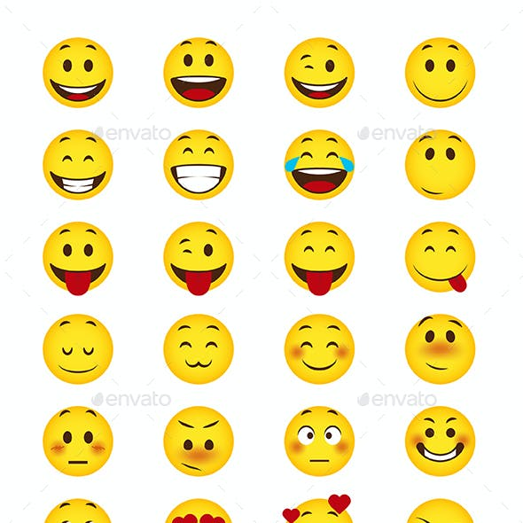 116 Cartoon Emoji Set
