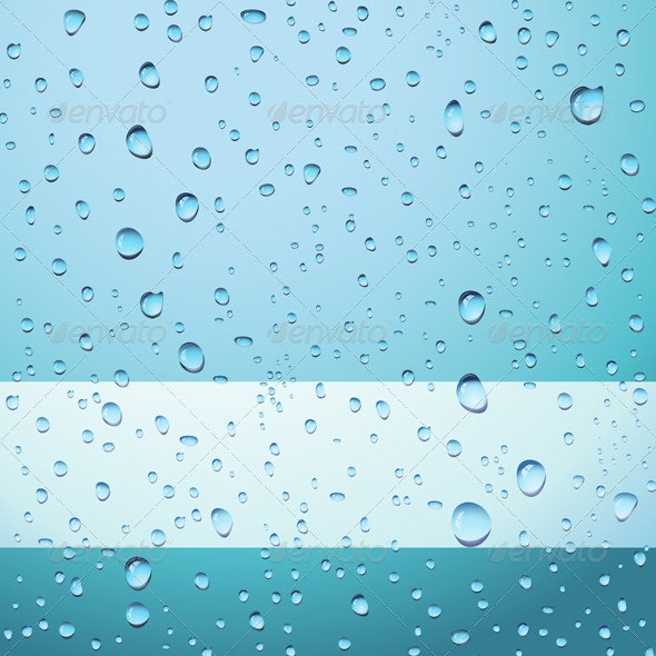 Blue Drops Abstract Background - Backgrounds Decorative