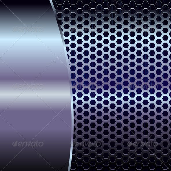 Blue Metallic Backdrop